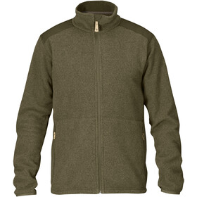 Fjällräven Sten Fleece Jas Heren, dark olive